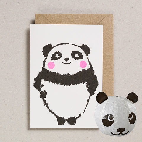 Paper Balloon Card - Panda
