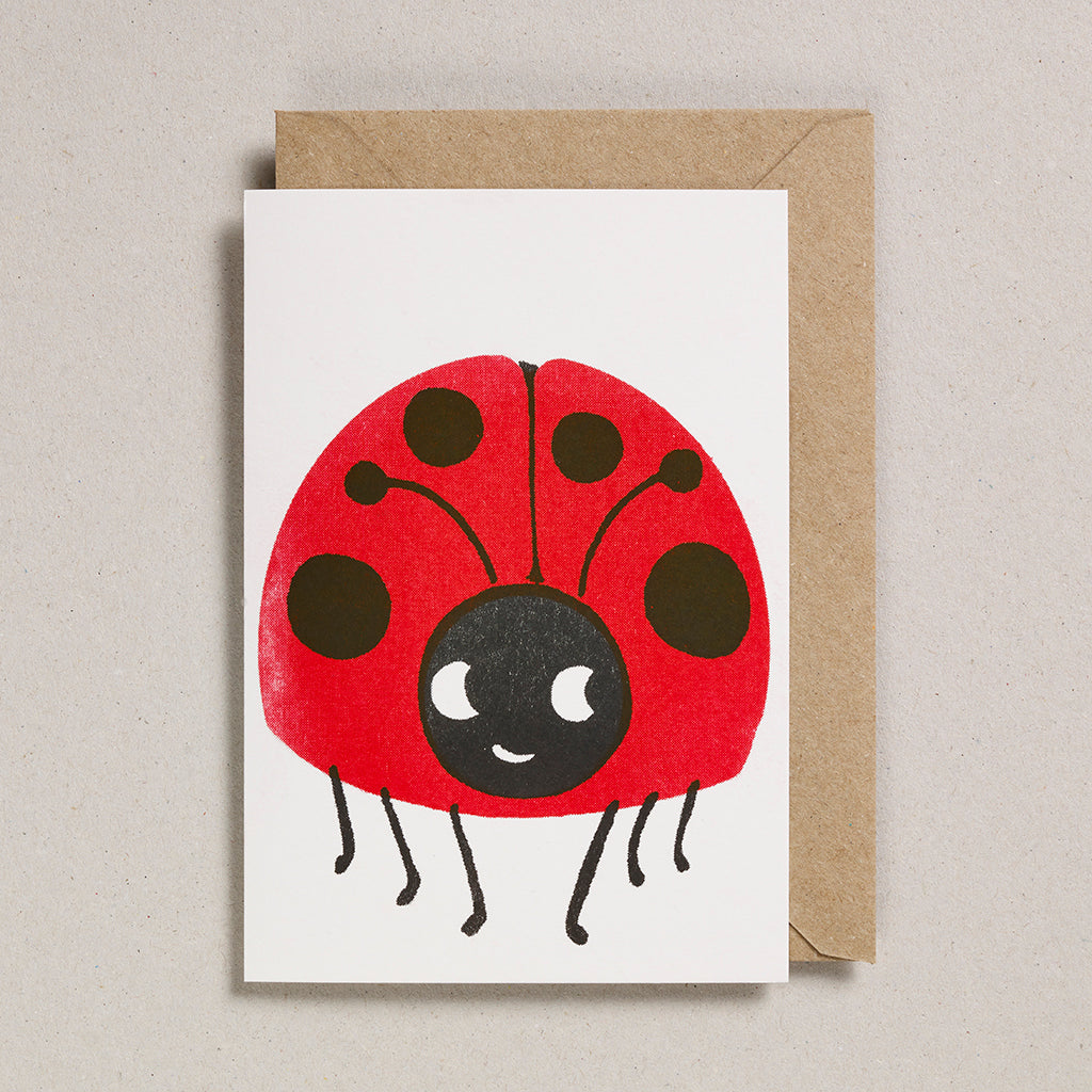Paper Balloon Card - Ladybird
