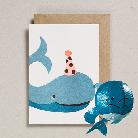 Paper Balloon Card - Whale