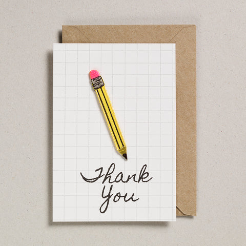 Write On With Cards - Pencil (Thanks)
