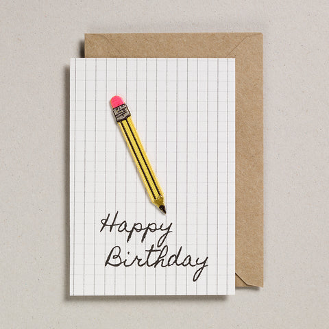 Write On With Cards - Pencil (Birthday)