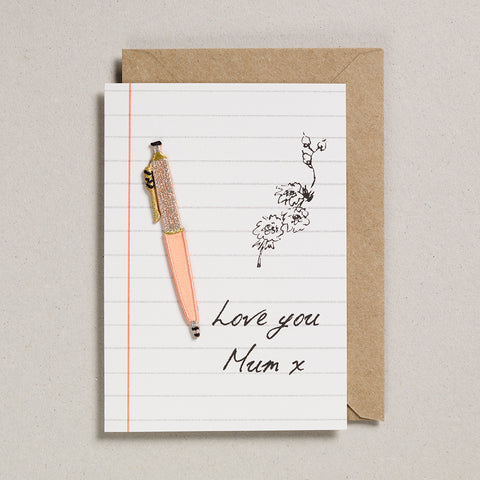 Write On With Cards - Peach Pen (Mum)