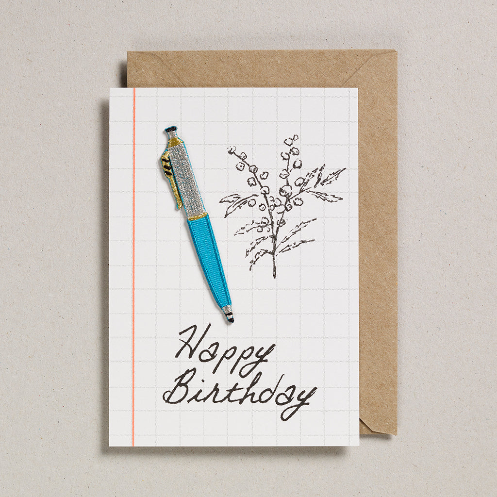 Write On With Cards - Teal Pen (Birthday)