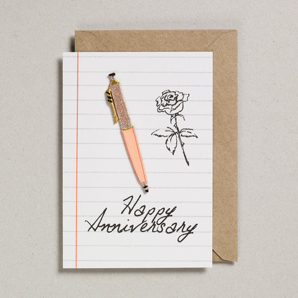Write On With Cards - Peach Pen (Anniversary)