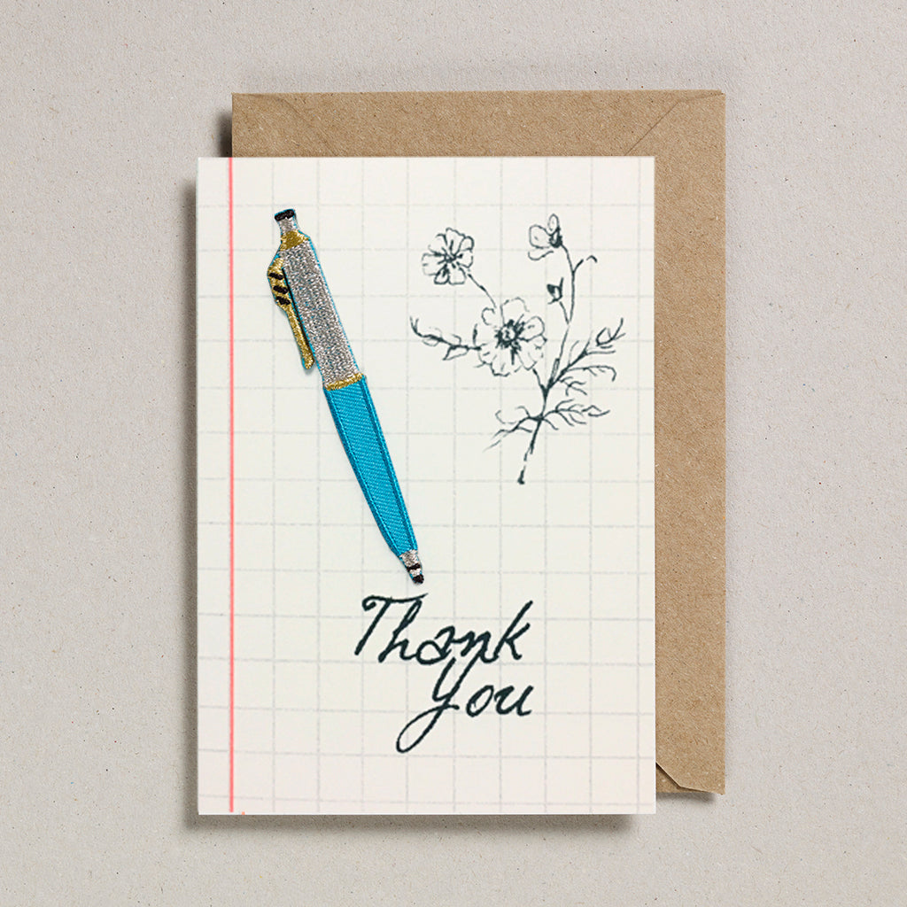 Write On With Cards - Teal Pen (Thanks)