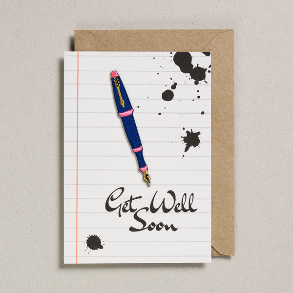 Write On With Cards - Fountain Pen (Get Well)