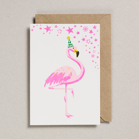 Riso Pets Card - Flamingo