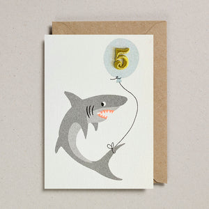 Riso Pets Card - Shark (Age 5)