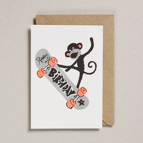 Rascals Cards - Skateboarding Monkey