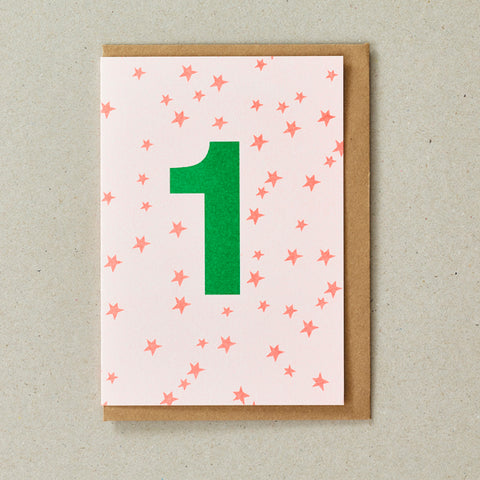Riso Number Cards - Orange/Green - Age 1