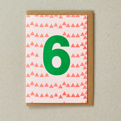 Riso Number Cards - Orange/Green - Age 6