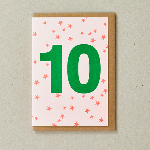 Riso Number Cards - Orange/Green - Age 10