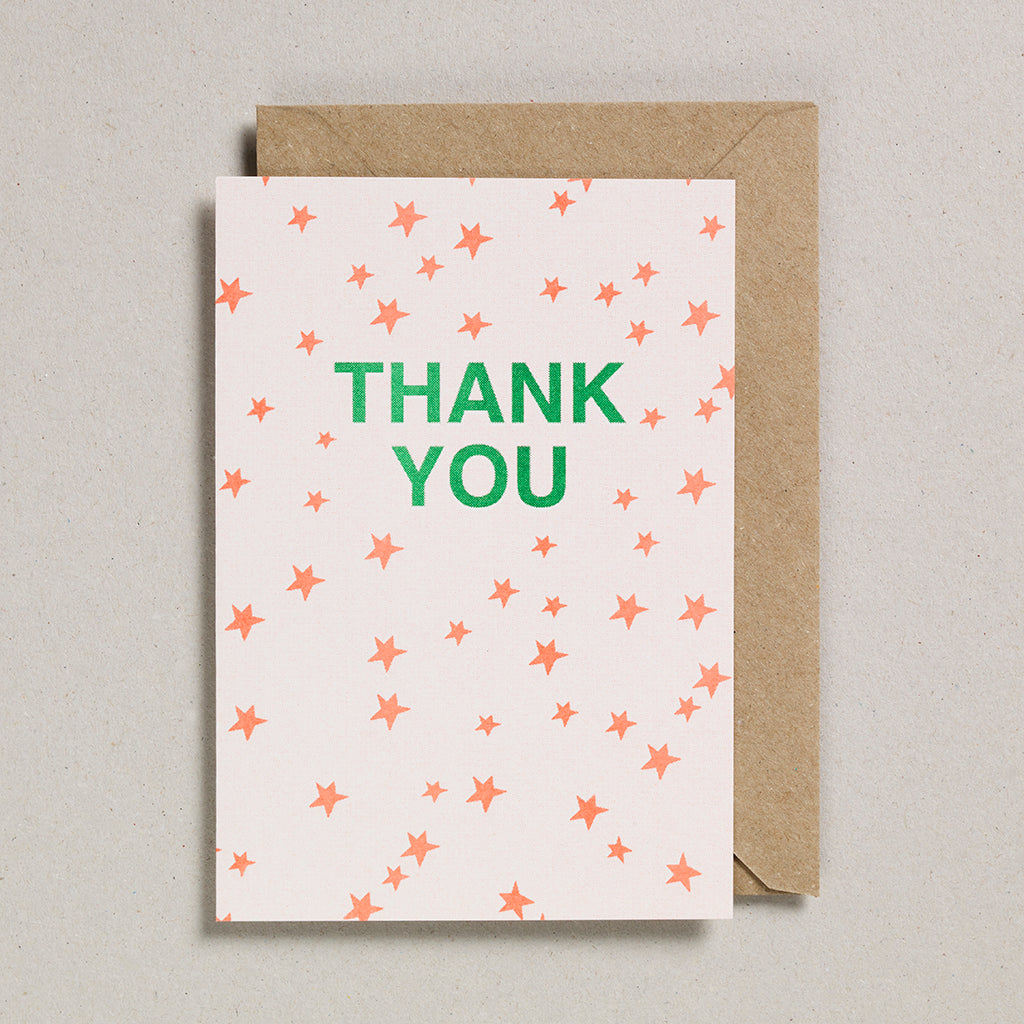 Riso Occasions Cards - Orange/Green - Thank You