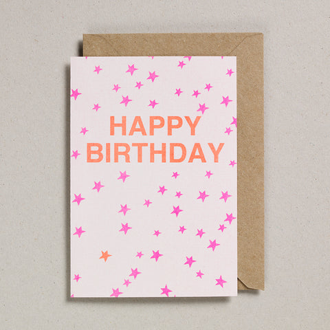 Riso Occasions Cards - Pink/Orange - Happy Birthday