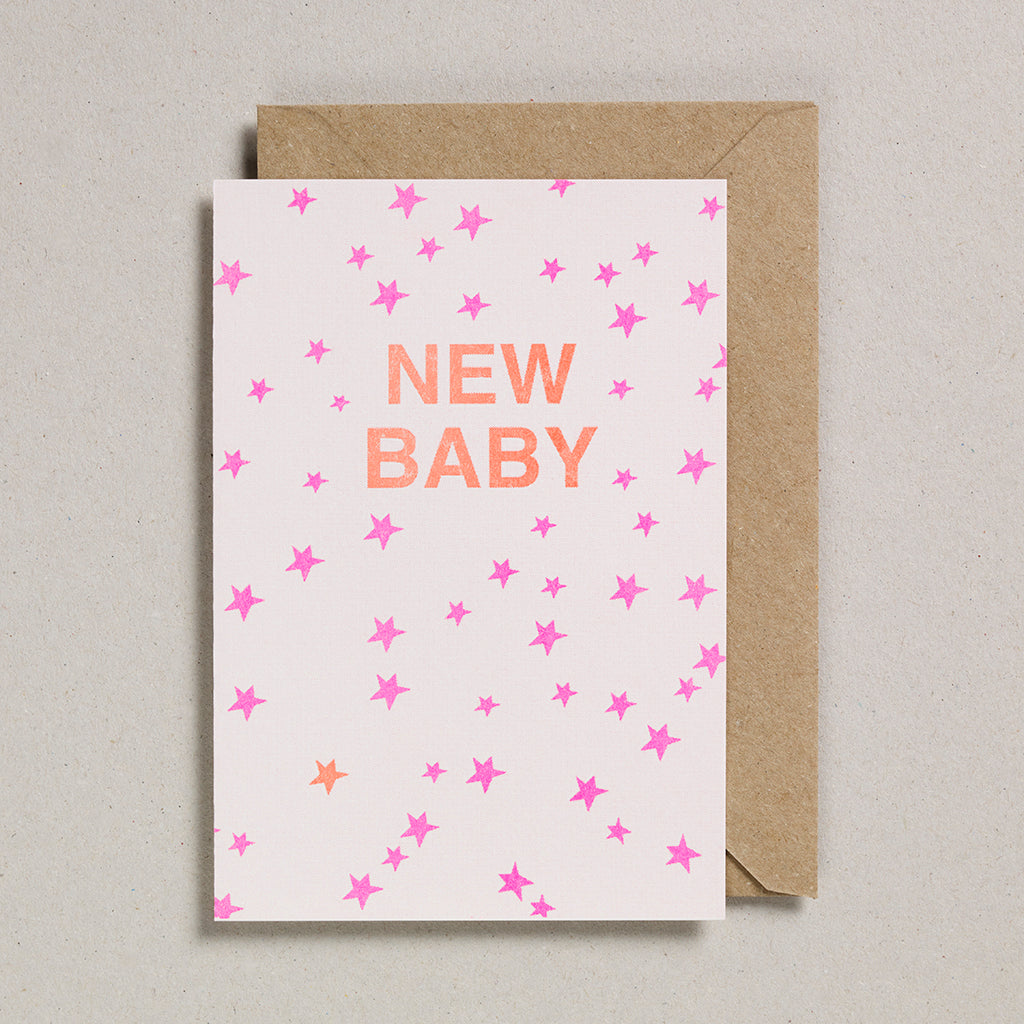 Riso Occasions Cards - Orange/Pink - New Baby