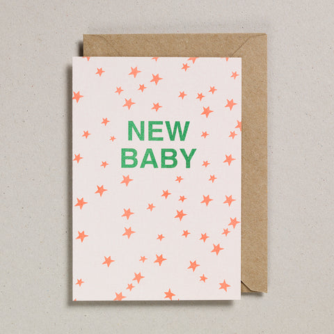 Riso Occasions Cards - Orange/Green - New Baby