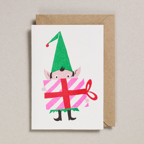 Set of 6 Christmas Cards - Elf