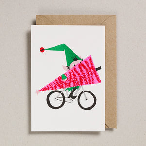 Riso Christmas (Pack of 6) - Elf on Bike