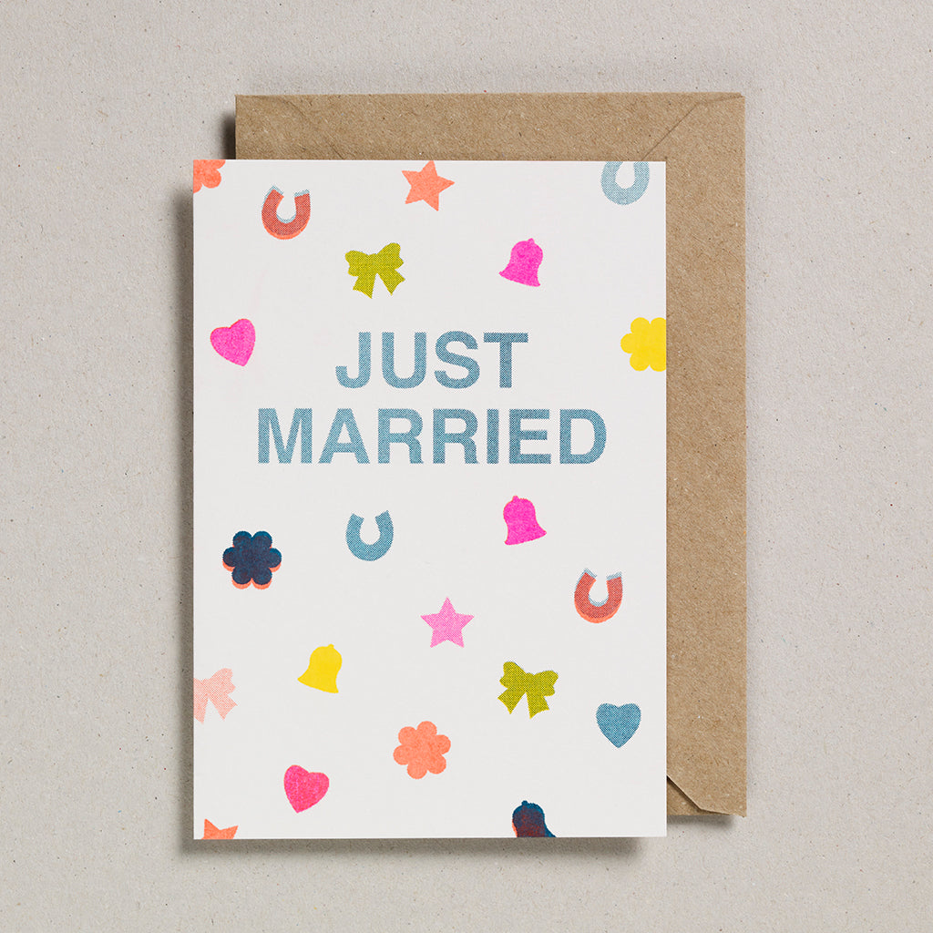 Riso Occasions Cards - Just Married Confetti