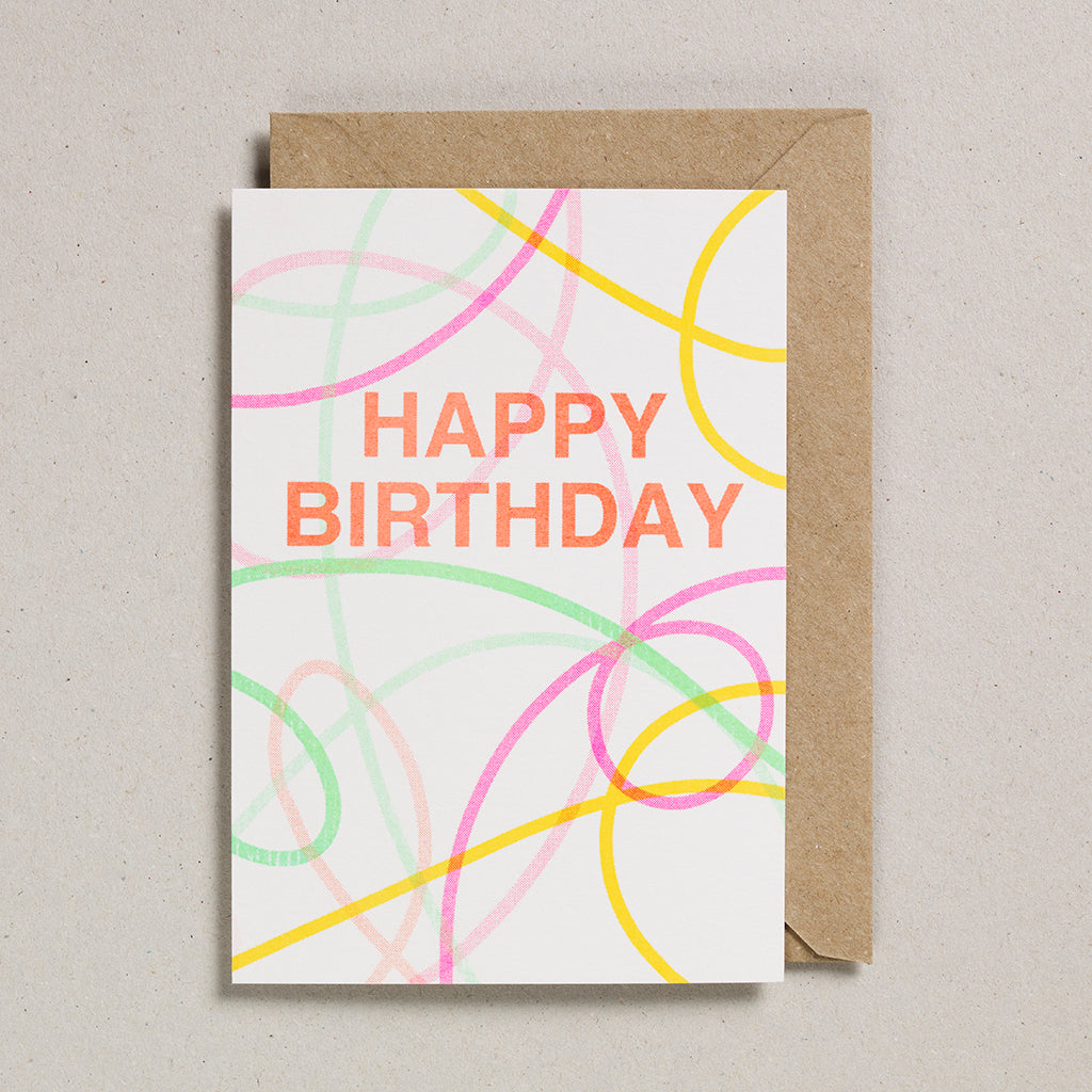 Riso Occasions Cards - Happy Birthday Streamers