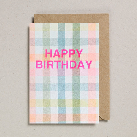 Riso Occasions Cards - Happy Birthday Gingham
