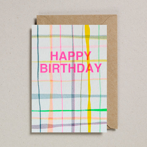 Riso Occasions Cards - Happy Birthday Plaid
