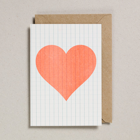 Love & Friendship Cards - Orange Heart