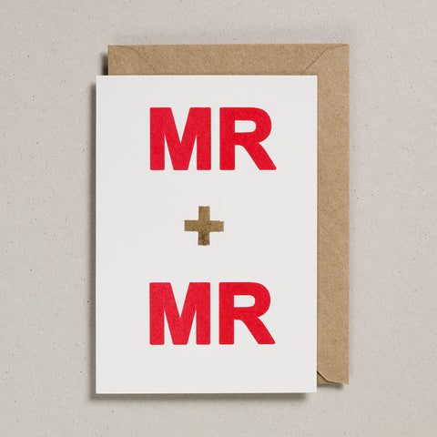 Love & Friendship Card - Mr & Mr