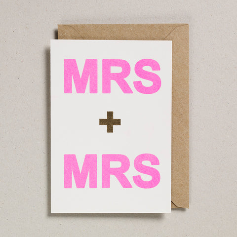 Love & Friendship Card - Mrs & Mrs