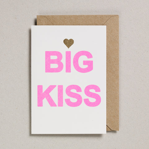 Love & Friendship Card - Big Kiss