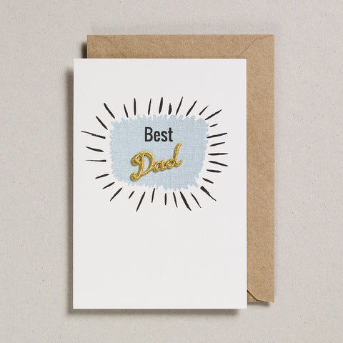 Embroidered Word Card - Best Dad