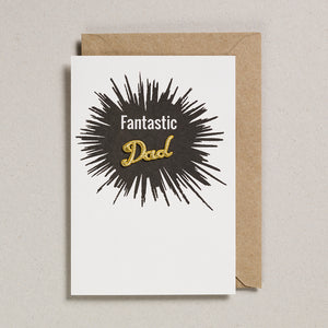 Embroidered Word Card - Fantastic Dad