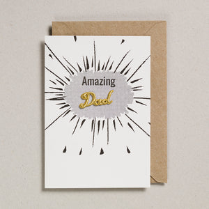 Embroidered Word Card - Amazing Dad