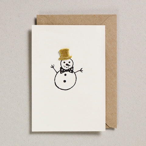 Iron on Christmas Charm - Snowman