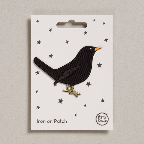 Iron on Patch - Black Bird