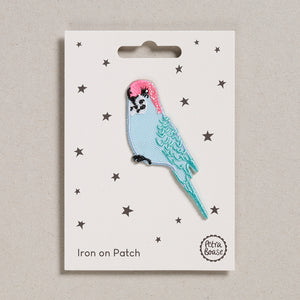 Iron on Patch - Blue Budgie