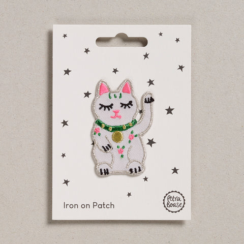 Iron on Patch - Lucky Cat