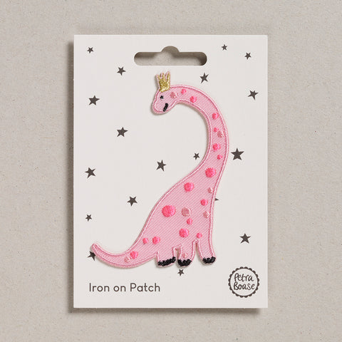 Iron on Patch - Pink Dinosaur