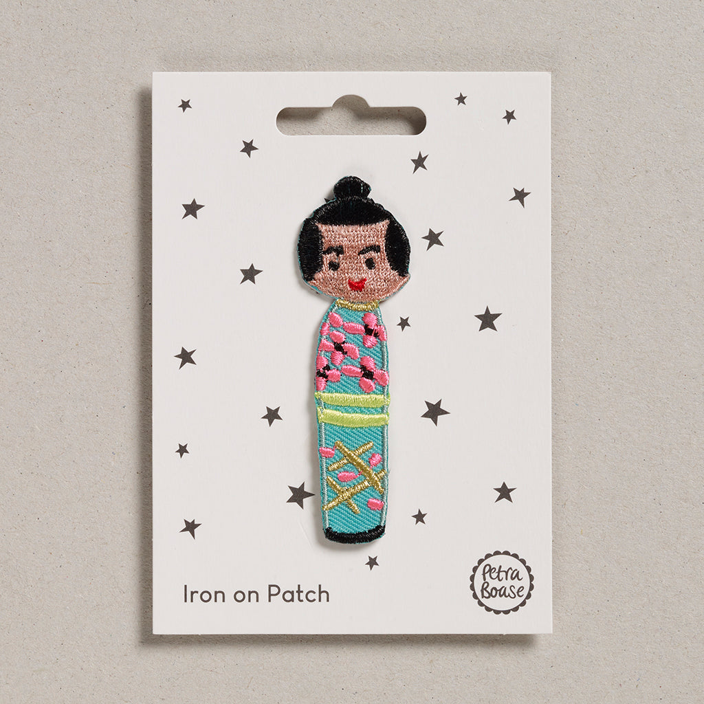 Iron on Patch - Doll Teal Dress