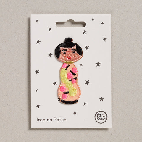 Iron on Patch - Doll Peach Dress