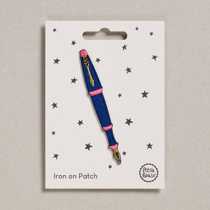 Iron on Patch - Fountain Pen Blue