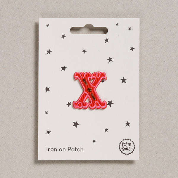 "Alphabet Patches - ""X"""