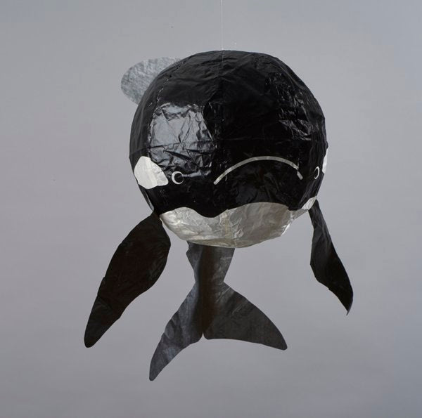 Japanese Paper Balloon - Black Whale