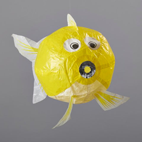 Japanese Paper Balloon - Small Yellow Fish