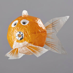 Japanese Paper Balloon - Small Orange Fish