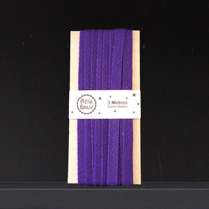 Cotton Herringbone Ribbon - Violet
