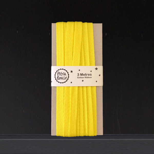 Cotton Herringbone Ribbon - Yellow