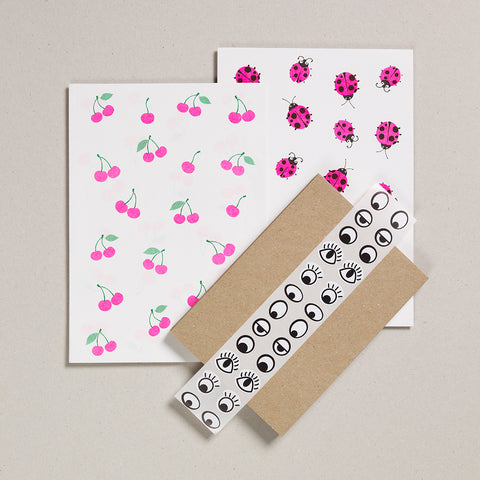 Writing Paper Set - Cherries & Ladybirds