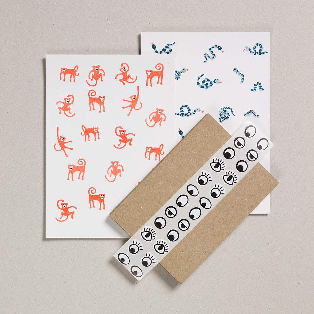 Writing Paper Set - Monkeys & Snakes
