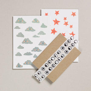 Writing Paper Set - Clouds & Stars